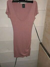 women's pink scoop-neck dress Long Beach, 90815