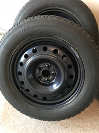 Winter tires-black steel rims with tires