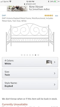 DHP twin day bed metal white  Woodbridge, 22193