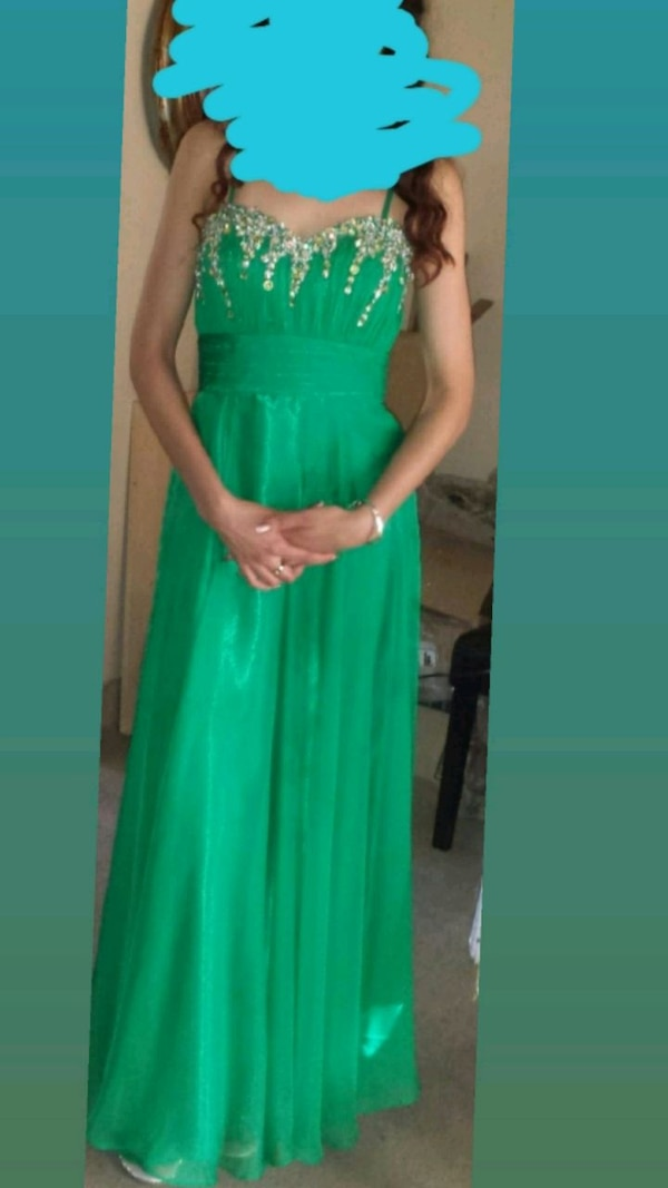 Green bedazzle dress