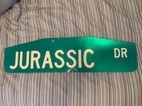 "Authentic ""Jurassic Dr"" street sign  Tempe, 85281"