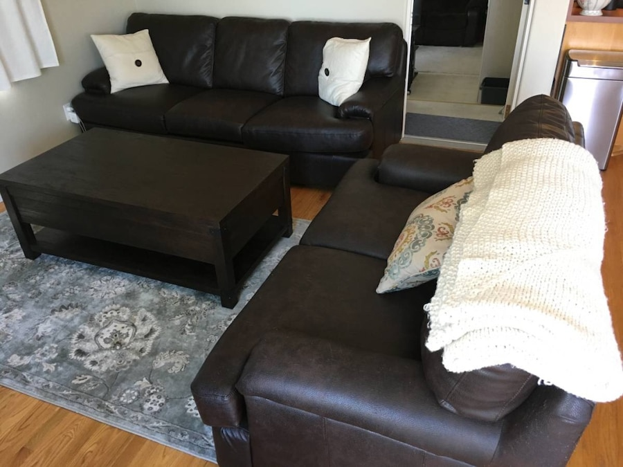 Leather Loveseat - CA