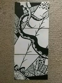 Original artwork! Abstract black and white acrylic Manassas, 20109