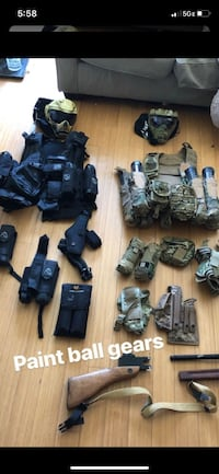 Paint ball gear