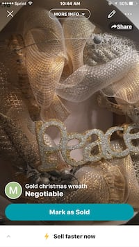 gold christmas wreath  Frederick, 21703
