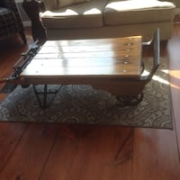 rectangular brown wooden coffee table Burk's Falls, P0A