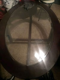 used dark brown oval coffee table Sioux Falls, 57104