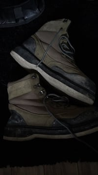 pair of brown suede work boots Calgary, T2A 4Z6