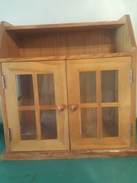 brown wooden framed glass cabinet San Bernardino, 92407