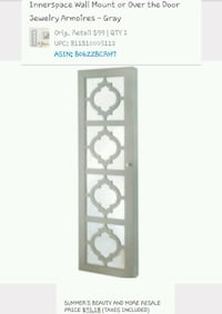 Inner Space wall mount or over the door jewelry ar Springfield