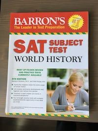 SAT Subject Test World History book by Barron's The Leader in Test Preparation