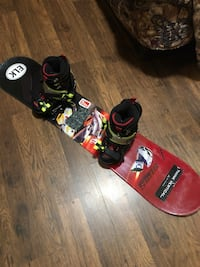 Snow board rig includes board, boots, bindings and grips