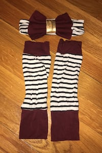 Baby leg warmers and bow Fort Knox, 40121
