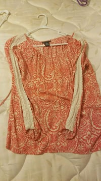 Red Lace Top Jessup, 20794