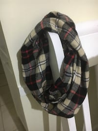 black, red, and white plaid scarf Germantown, 20874