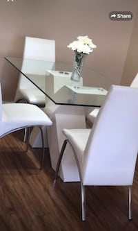 white wooden frame glass top table Calgary, T2A 5B8