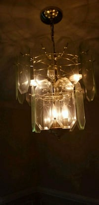 clear glass pendant lamp with brown wooden frame 68 km