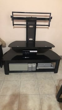 Black glass tv stand with mount Toronto, M6M 5K2