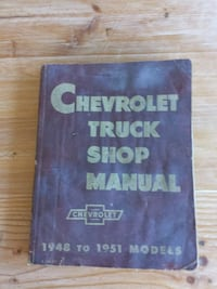 Chevrolet Truck Shop Manual book