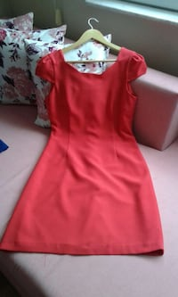 Red Cap Sleeved Dress