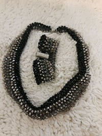black and white beaded necklace Stockton, 95206