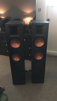 Klipssch reference series - absolutely nothing wrong with them. Excellent condition, I moved and no long have room for a home theatre in my new location.  Surrey, V3W 7Z3