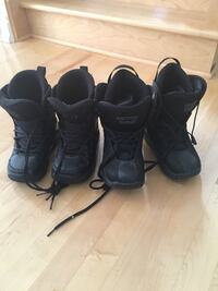 Snowboard boots sizes 2US and 4US 10$ each pair Laval, H7G 6H5