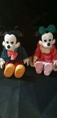 Mickey and Minnie Mouse plush toys