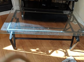 COFFEE TABLE - GLASS - METAL