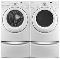 Whirlpool Duet he 4.5 cu.ft Front Load Washer and Dryer with Adaptive Wash Technology, 8 cycles - White Washington, 20024