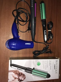 """ALL Brand new""Hair straightener Remington- Conair hot brush and dryer"