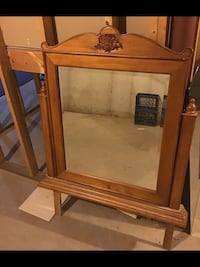 Mirror hutch very nice detailed and engraved York, 17404