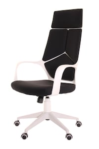 Black And White Rolling Armchair Houston