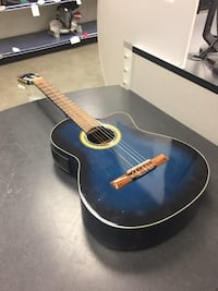 blue and brown acoustic guitar Chicago, 60622