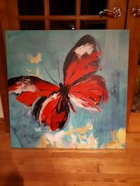painting of red and white butterfly Beaverton, L0K 1A0