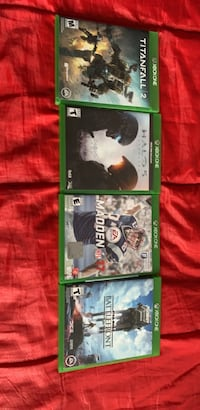 4 Xbox one games Star Wars, Madden 17, halo 5, titanfall 2 Norwalk, 06851