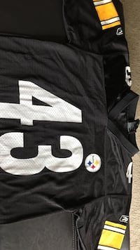 Black and white Pittsburgh Steelers 43 jersey shirt Manchester, 03104