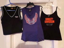 Ladies large Harley davidson shirts see descriptio