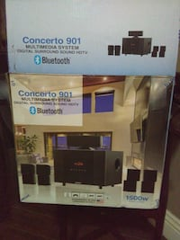 black and gray home theater system box Las Vegas, 89145