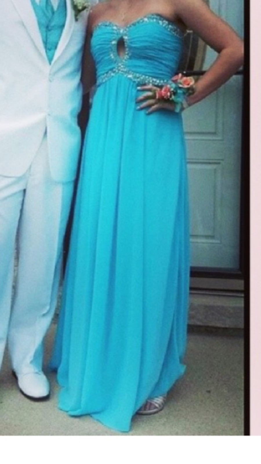 Size 10 . Women's teal tube dress - IL