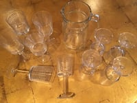 Ralph Lauren Wine Glasses and pitcher 34 km
