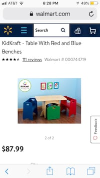 Kidkraft table with storage and ONE chair  Fairfax, 22032