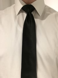 Skinny black silk necktie Washington, 20037
