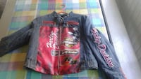 blue and red zip-up Harley-Davidson denim jacket Terrebonne, J6Y 1G8