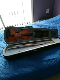 brown violin in case with case Gaithersburg, 20886