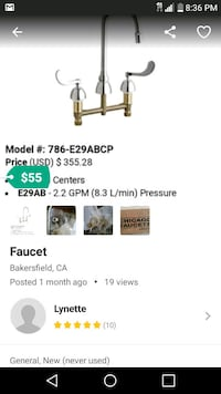 stainless steel faucet screenshot Bakersfield, 93301
