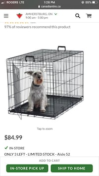 Large Dog Crate. Barely used.