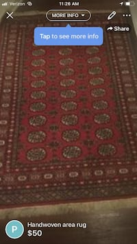 red and brown area rug Savannah, 31408