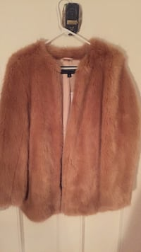 Ann taylor faux fur coat new with tags size small
