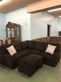 Brand New Fabric sectional sofa with throw pillows $499 Only, No Credit Needed Finance North Highlands, 95660